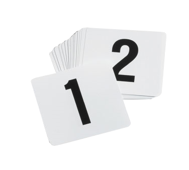 TableCraft Products TN100 table numbers cards