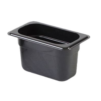 2410-38 Thunder Group PLPA8194BK food pan, plastic