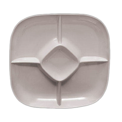 Thunder Group PS1515W plate/platter, compartment, plastic