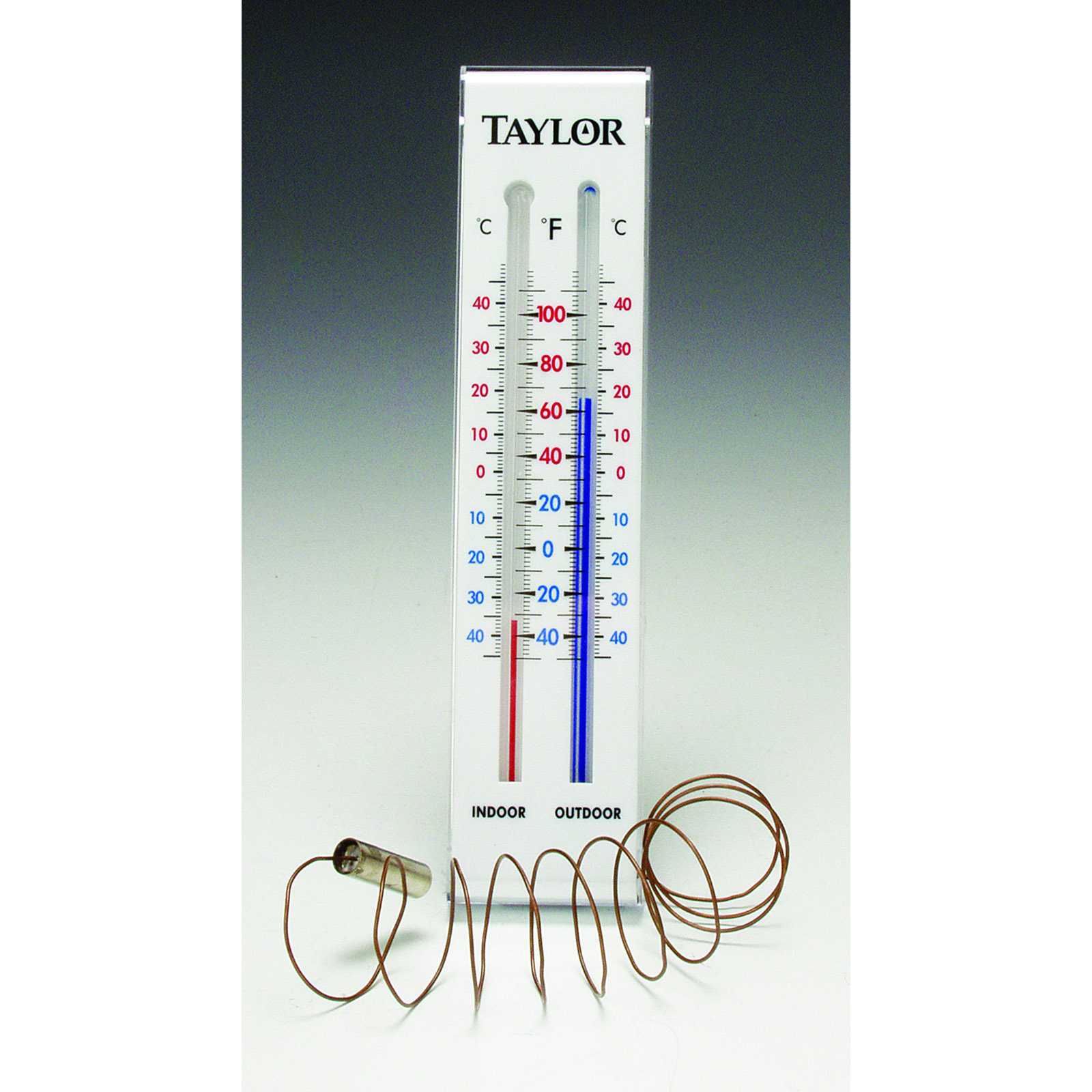 Taylor Precision 5327 thermometer, window wall