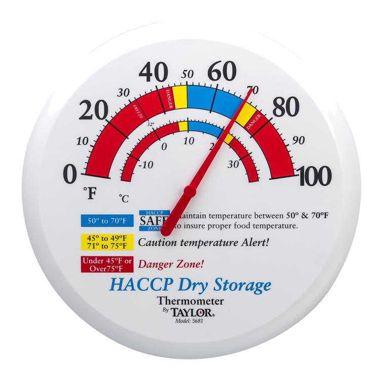 Taylor Precision 5681 thermometer, time temp haccp