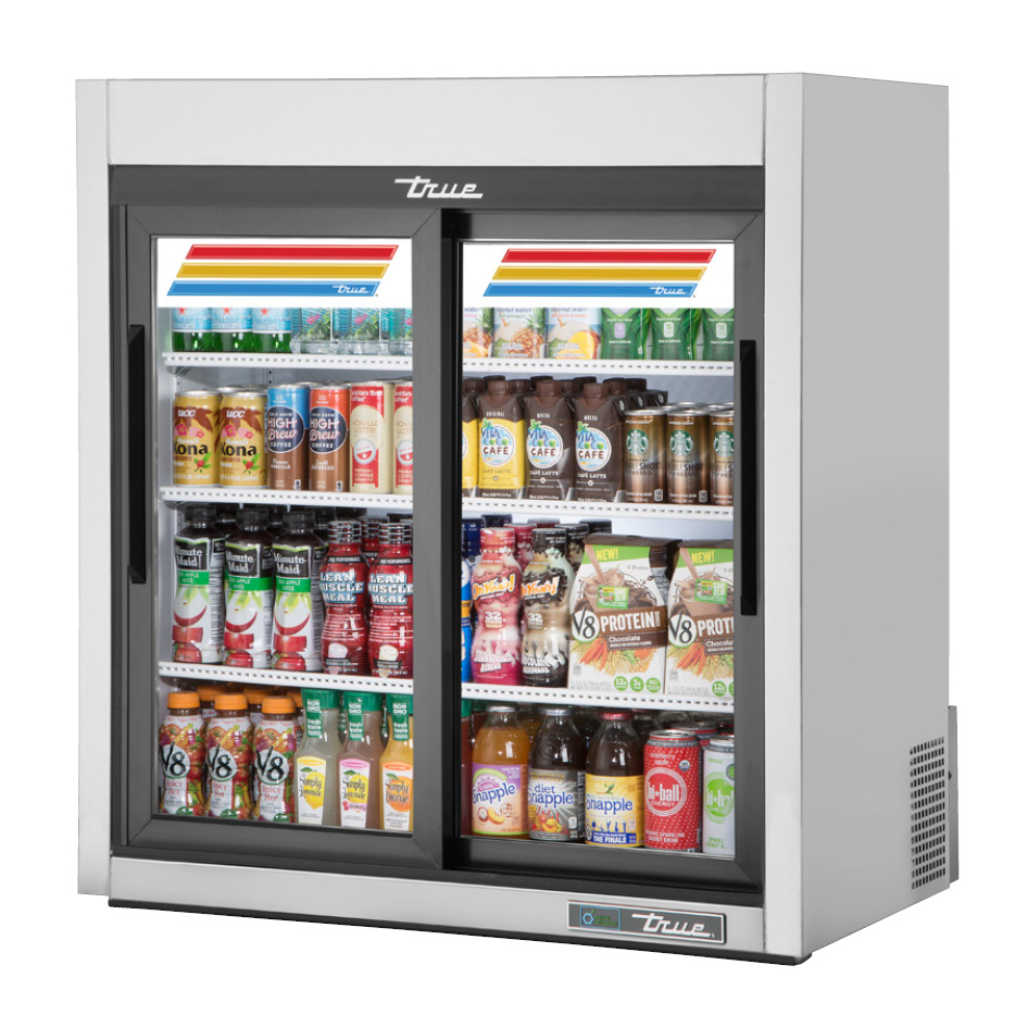 True Manufacturing Co., Inc. GDM-09-SQ-S-HC-LD refrigerator, merchandiser, countertop