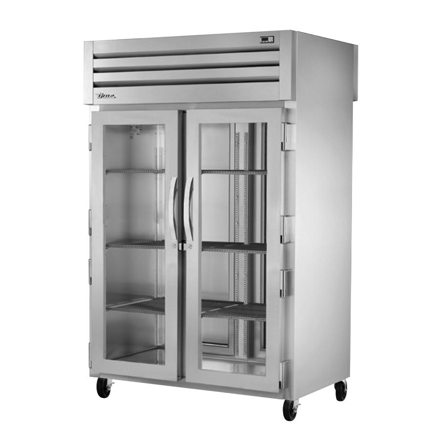 True Manufacturing Co., Inc. STG2RPT-2G-2S-HC refrigerator, pass-thru