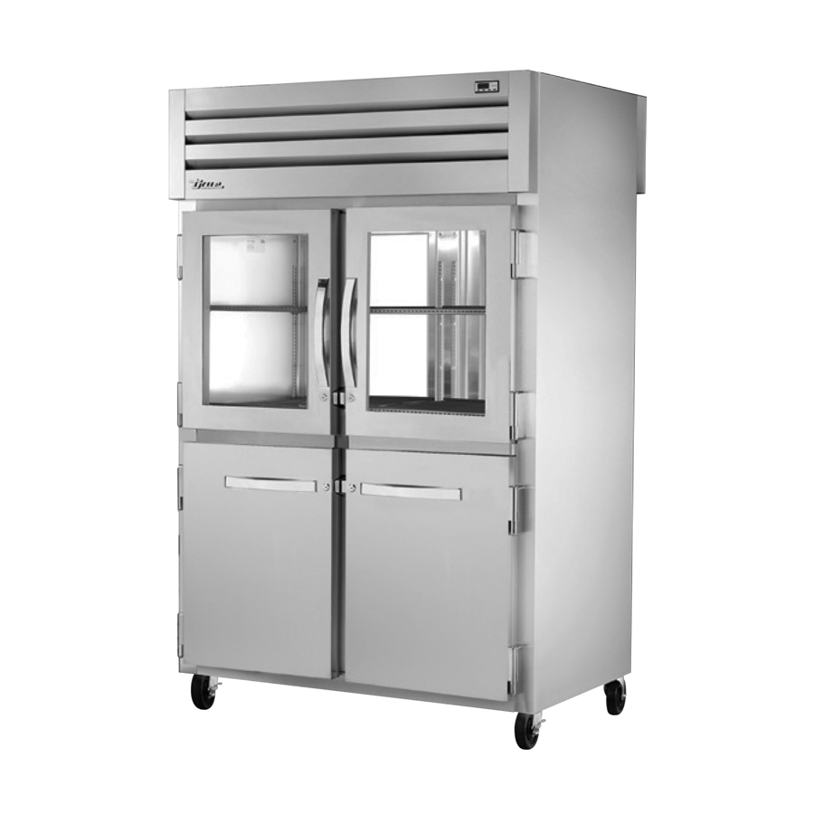 True Manufacturing Co., Inc. STG2RPT-2HG/2HS-2G-HC refrigerator, pass-thru