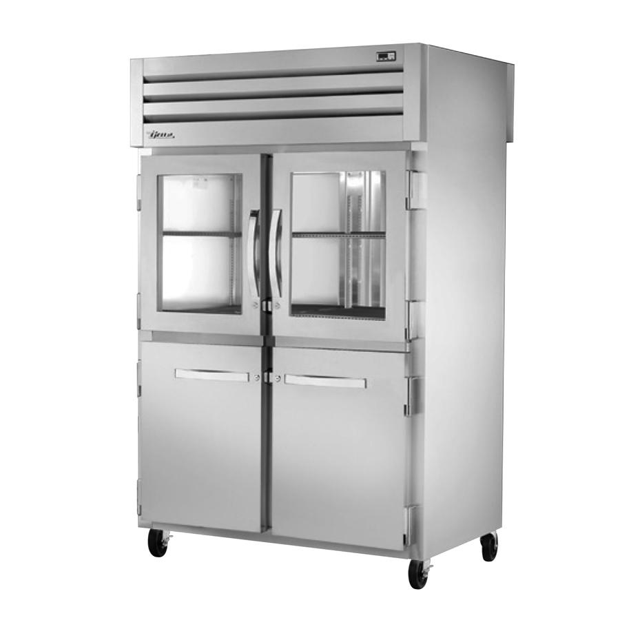 True Manufacturing Co., Inc. STG2RPT-2HG/2HS-2S-HC refrigerator, pass-thru