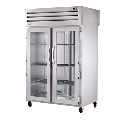 True Manufacturing Co., Inc. STR2HPT-2G-2S heated cabinet, pass-thru