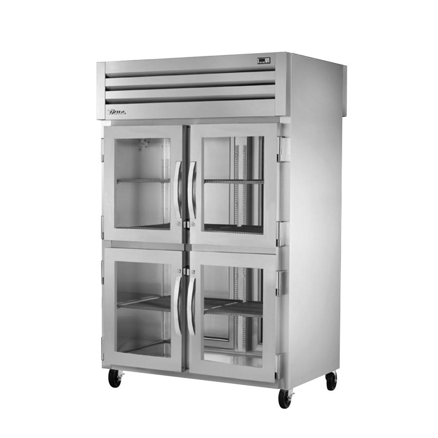 True Manufacturing Co., Inc. STR2RPT-4HG-2S-HC refrigerator, pass-thru
