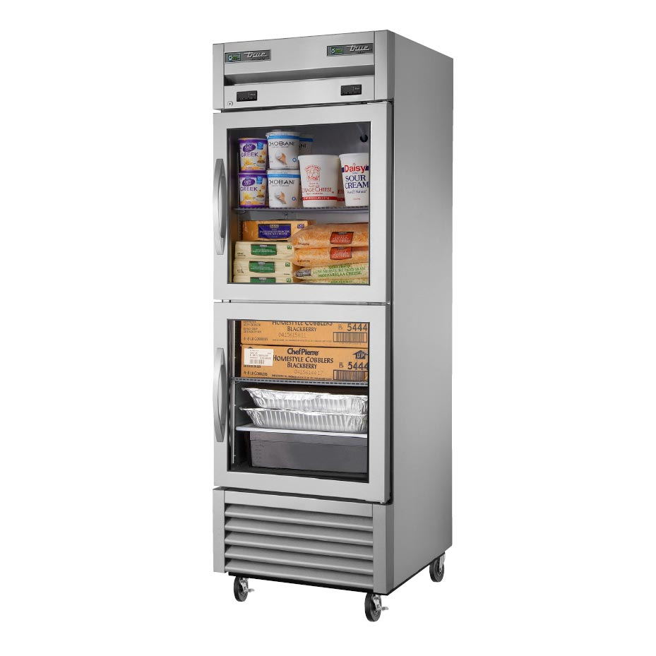 True Manufacturing Co., Inc. T-23DT-G-HC~FGD01 refrigerator freezer, reach-in