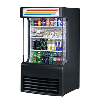 True Manufacturing Co., Inc. TAC-14GS-LD merchandiser, open refrigerated display