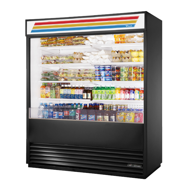True Manufacturing Co., Inc. TAC-72-LD merchandiser, open refrigerated display