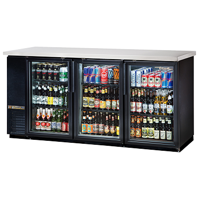 True Manufacturing Co., Inc. TBB-24-72G-HC-LD back bar cabinet, refrigerated