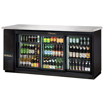 True Manufacturing Co., Inc. TBB-24-72G-SD-HC-LD back bar cabinet, refrigerated