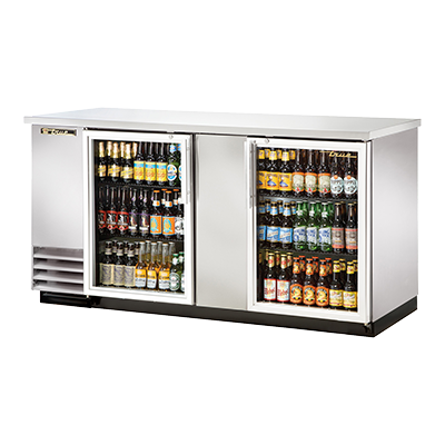True Manufacturing Co., Inc. TBB-3G-S-HC-LD back bar cabinet, refrigerated