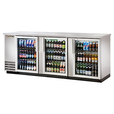True Manufacturing Co., Inc. TBB-4G-S-HC-LD back bar cabinet, refrigerated