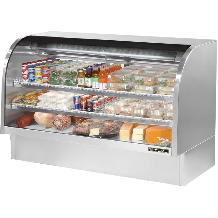 True Manufacturing Co., Inc. TCGG-72-S-LD display case, refrigerated deli