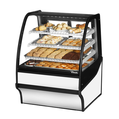 True Manufacturing Co., Inc. TDM-DC-36-GE/GE-S-W display case, non-refrigerated bakery