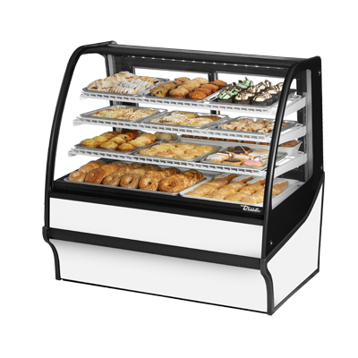 True Manufacturing Co., Inc. TDM-DC-48-GE/GE-W-W display case, non-refrigerated bakery
