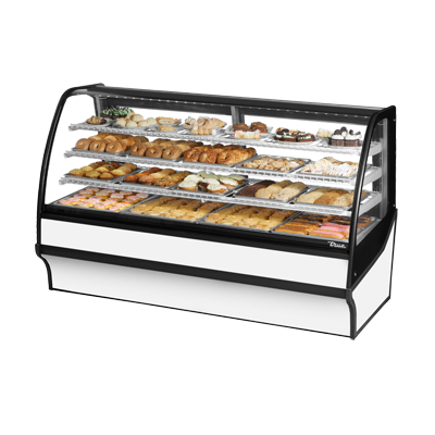 True Manufacturing Co., Inc. TDM-DC-77-GE/GE-W-W display case, non-refrigerated bakery