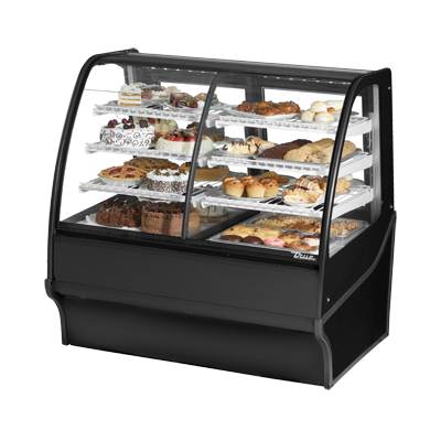 True Manufacturing Co., Inc. TDM-DZ-48-GE/GE-B-W display case, refrigerated/non-refrig