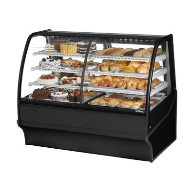 True Manufacturing Co., Inc. TDM-DZ-59-GE/GE-B-W display case, refrigerated/non-refrig