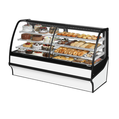True Manufacturing Co., Inc. TDM-DZ-77-GE/GE-S-W display case, refrigerated/non-refrig