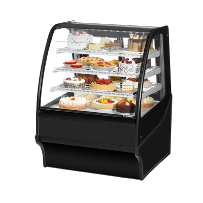 True Manufacturing Co., Inc. TDM-R-36-GE/GE-B-W display case, refrigerated bakery