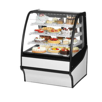 True Manufacturing Co., Inc. TDM-R-36-GE/GE-S-W display case, refrigerated bakery