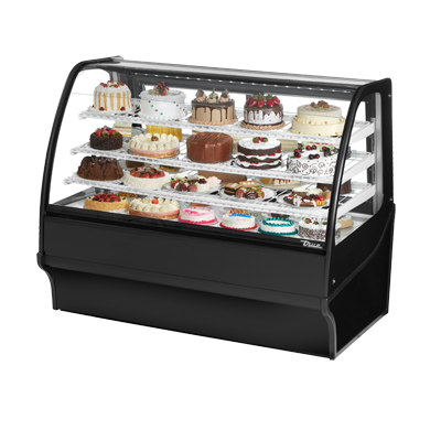 True Manufacturing Co., Inc. TDM-R-59-GE/GE-B-W display case, refrigerated bakery