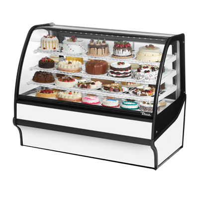 True Manufacturing Co., Inc. TDM-R-59-GE/GE-W-W display case, refrigerated bakery
