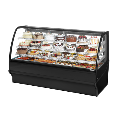 True Manufacturing Co., Inc. TDM-R-77-GE/GE-B-W display case, refrigerated bakery
