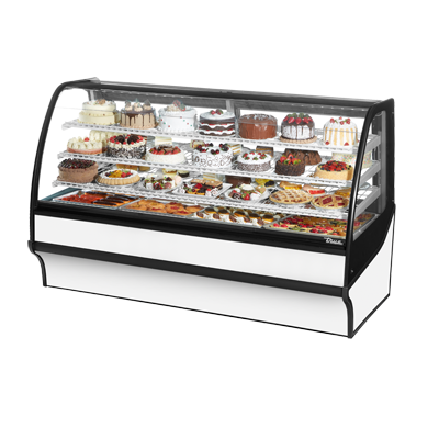 True Manufacturing Co., Inc. TDM-R-77-GE/GE-W-W display case, refrigerated bakery