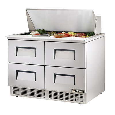 True Manufacturing Co., Inc. TFP-48-18M-D-4 refrigerated counter, mega top sandwich / salad unit