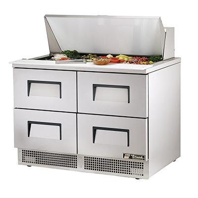 True Manufacturing Co., Inc. TFP-48-18M-D-4 refrigerated counter, mega top sandwich / salad unit