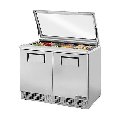 True Manufacturing Co., Inc. TFP-48-18M-FGLID refrigerated counter, mega top sandwich / salad unit