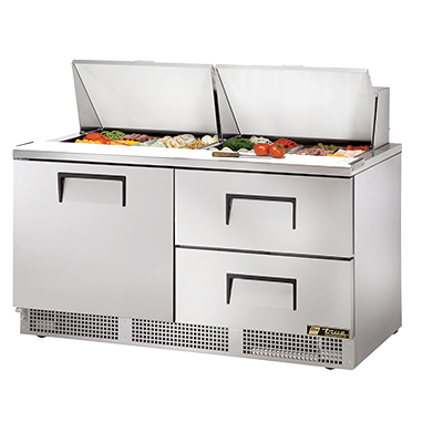 True Manufacturing Co., Inc. TFP-64-24M-D-2 refrigerated counter, mega top sandwich / salad unit