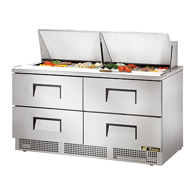 True Manufacturing Co., Inc. TFP-64-24M-D-4 refrigerated counter, mega top sandwich / salad unit