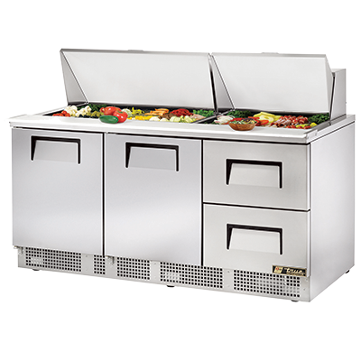 True Manufacturing Co., Inc. TFP-72-30M-D-2 refrigerated counter, mega top sandwich / salad unit