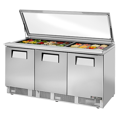 True Manufacturing Co., Inc. TFP-72-30M-FGLID refrigerated counter, mega top sandwich / salad unit