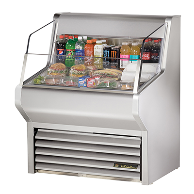 True Manufacturing Co., Inc. THAC-36-S-LD merchandiser, open refrigerated display