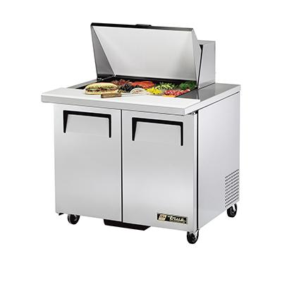 True Manufacturing Co., Inc. TSSU-36-12M-B-HC refrigerated counter, mega top sandwich / salad unit