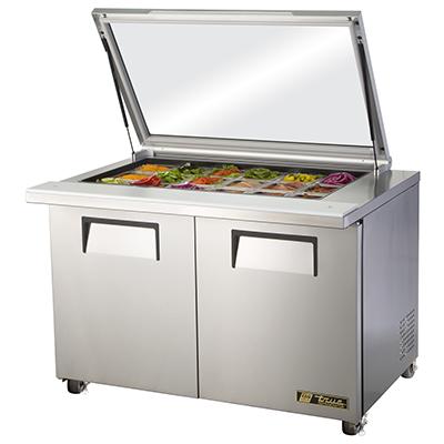 True Manufacturing Co., Inc. TSSU-48-18M-B-FGLID-HC refrigerated counter, mega top sandwich / salad unit