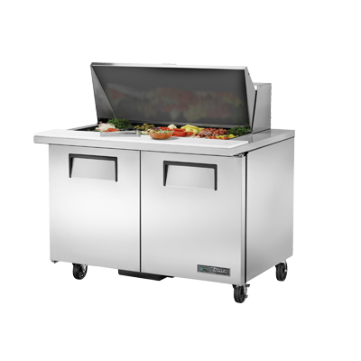 True Manufacturing Co., Inc. TSSU-48-18M-B-HC refrigerated counter, mega top sandwich / salad unit