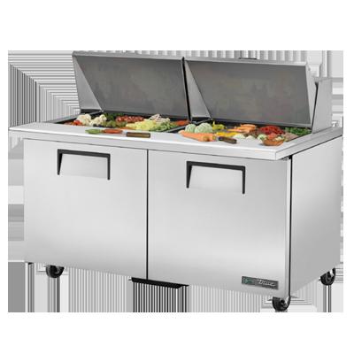 True Manufacturing Co., Inc. TSSU-60-24M-B-ST-HC refrigerated counter, mega top sandwich / salad unit