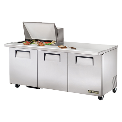 True Manufacturing Co., Inc. TSSU-72-12M-B-HC refrigerated counter, mega top sandwich / salad unit