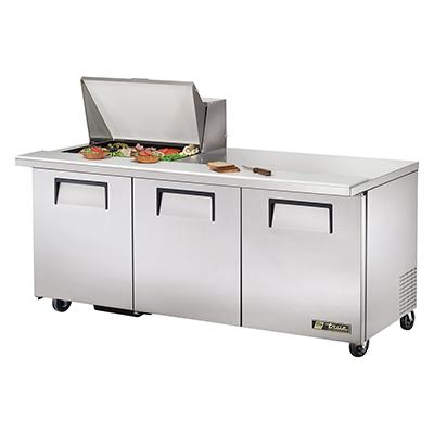 True Manufacturing Co., Inc. TSSU-72-12M-B-HC refrigerated counter, mega top sandwich / salad unit