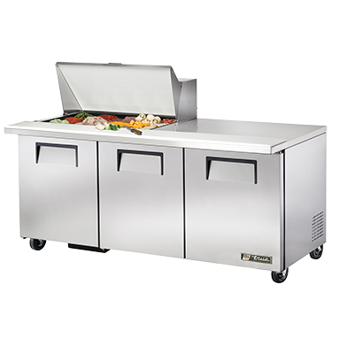 True Manufacturing Co., Inc. TSSU-72-15M-B-HC refrigerated counter, mega top sandwich / salad unit