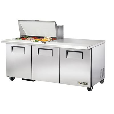 True Manufacturing Co., Inc. TSSU-72-15M-B-HC refrigerated counter, mega top sandwich / salad unit