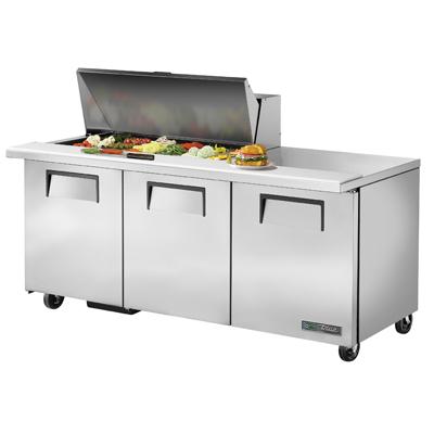 True Manufacturing Co., Inc. TSSU-72-18M-B-HC refrigerated counter, mega top sandwich / salad unit