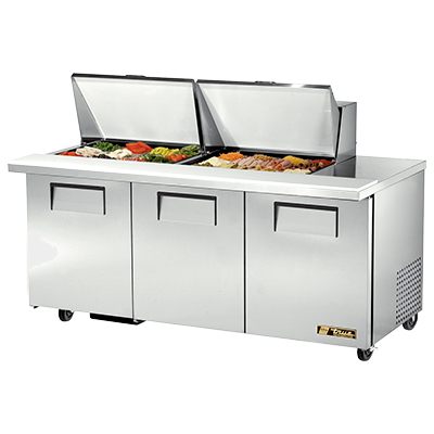 True Manufacturing Co., Inc. TSSU-72-24M-B-ST-HC refrigerated counter, mega top sandwich / salad unit