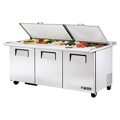 True Manufacturing Co., Inc. TSSU-72-30M-B-DS-ST-HC refrigerated counter, mega top sandwich / salad unit